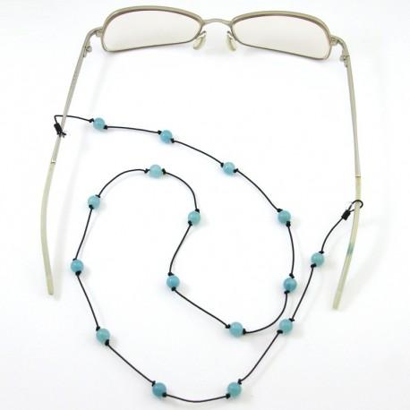 Cordon pour lunettes avec 16 pierres amazonites