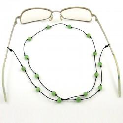 Cordon pour lunettes avec 16 pierres jades