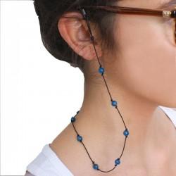 Cordon pour lunettes avec 16 pierres naturelles apatites