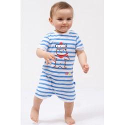 Combinaison bébé rayure HECTOR coton bio