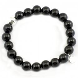 Bracelet pierres rondes angélite 8mm