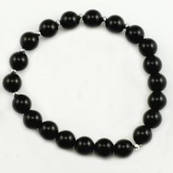 Bracelet onyx 8mm pierres rondes