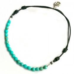 Bracelet multi pierres facettées cordon