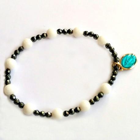 Bracelets Dizainnier jade blanc