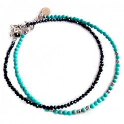 Ensemble 2 bracelets cornaline et pyrite de fer