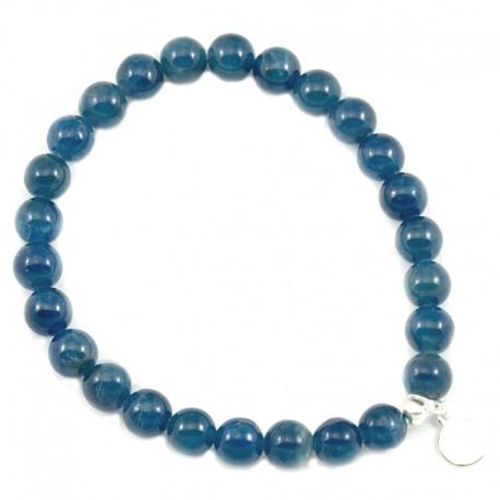 Bracelet Apatite 5mm pierres rondes
