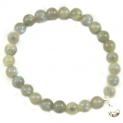 Bracelet Labradorite 6mm pierres rondes