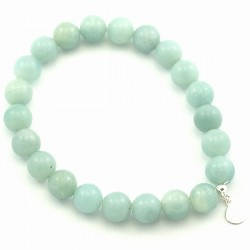 Bracelet amazonite 8 mm pierres rondes
