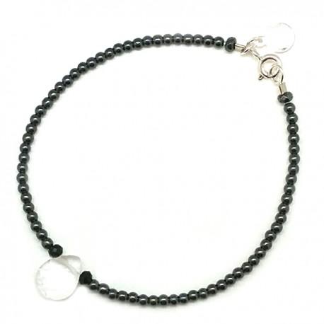 Bracelet goutte cristal de roche