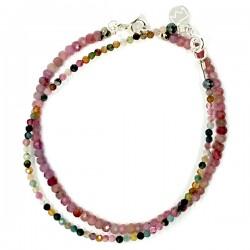 Ensemble 2 bracelets onyx et iolites lisses