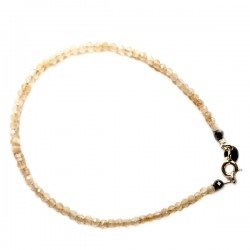 Bracelet pierre de lune noire facettée