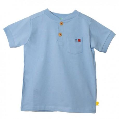 T-shirt col tunisien ALEX coton bio