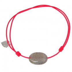 Bracelet cordon Fushia Labradorite