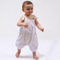 Combinaison bébé uni CHERIE coton bio