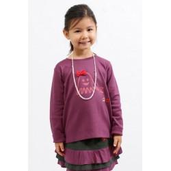 T-shirt LIVIE ras du cou imprimé pieuvre coton bio