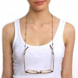 Cordon pour lunettes avec 16 pierres de lunes