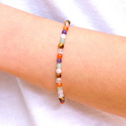 Bracelet 7 pierres couleurs du Chakra