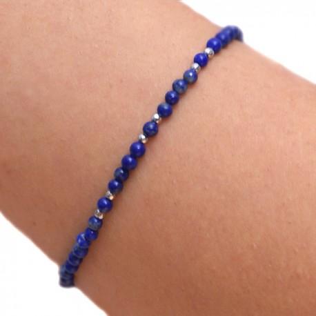 Bracelet Lapis lazuli et pyrite de fer