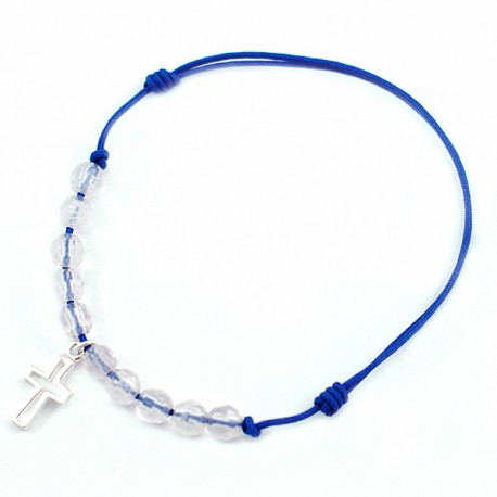 Bracelet cordon bleu10 Quartz roses