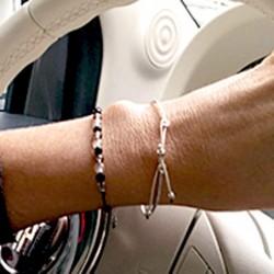 Bracelet cordon multi pierres facettées