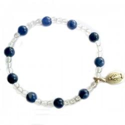 Ensemble 2 bracelets cordon bleu onyx et noir cristal de roche