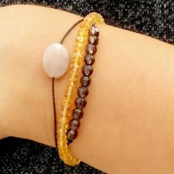 Bracelet cordon tanzanite taillée à la main