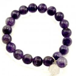 Bracelet pierre ronde onyx 8mm
