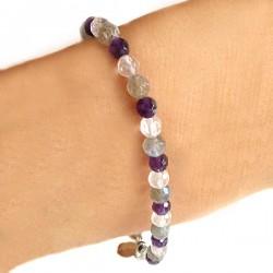 Bracelet tri colore labradorite