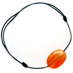 Bracelet cornaline cordon noir