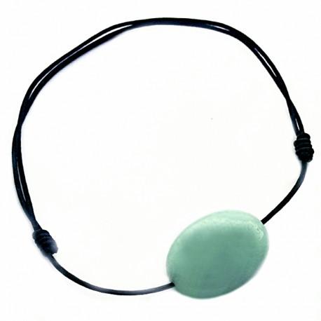 Bracelet Amazonite cordon noir