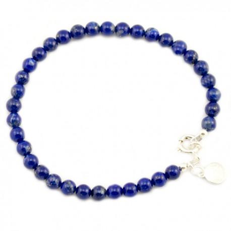 Bracelet Lapis lazulis lisse