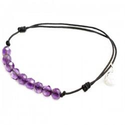 Bracelet cordon noir Am