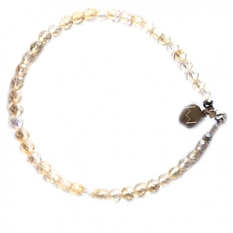 Bracelet citrine facettée