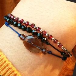 Bracelet grenat et hématites