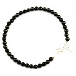 Bracelet Tourmaline noire lisse