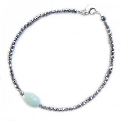 Bracelet hématites et amazonite