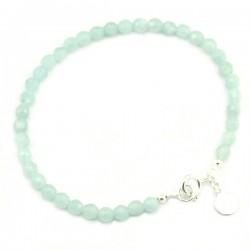 Bracelet Amazonite facettée