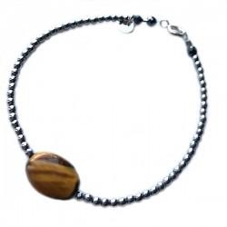 Bracelet hématites et cristal de roche
