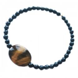 Bracelet Oeil de tigre - Tourmaline noire