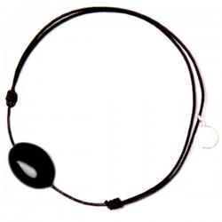 Bracelet cordon noir Onyx