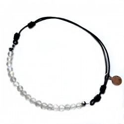 Bracelet cordon Labradorite taillée à la main