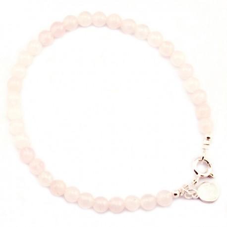 Bracelet Quartz rose lisse 4mm