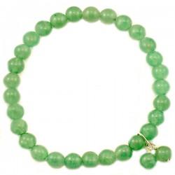 Bracelet aventurine verte verte 6mm pierres rondes