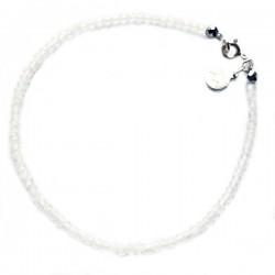 Bracelet pierres de lunes facettées