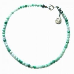 Bracelet amazonite du pérou facettée