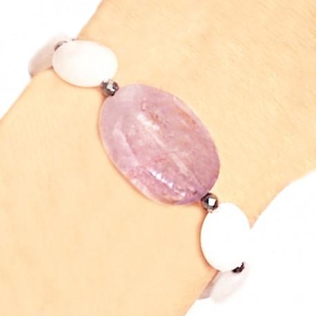 Bracelet quartz roses