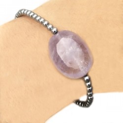 Bracelet quartz rose-améthyste