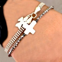 Bracelet hématites nacre