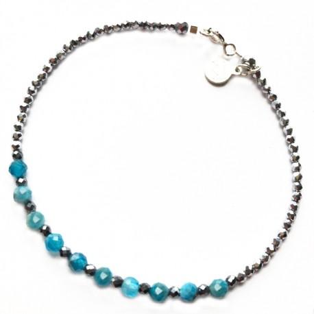 Bracelet Labradorite et hématites