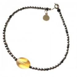 Bracelet Grenat taillée à la main